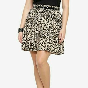 🆕Torrid Leopard Cheetah Animal Print Skater Skirt